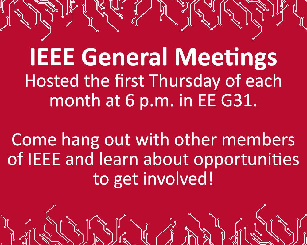 General Meetings Schedule